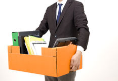 gestore licenziato fotografia stock