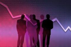Gestori di attività bancarie Immagine Stock