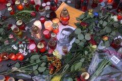 Gestorven Tsjechische ex-voorzitter Vaclav Havel. stock foto's