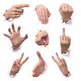 Gestos das mãos Imagens de Stock