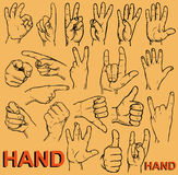 Gestos de mão Imagem de Stock