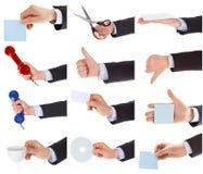 Gestos de mão ajustados fotografia de stock