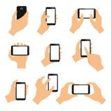 Gestos de mão do tela táctil Imagens de Stock Royalty Free