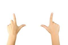Gestos de mão fêmeas, fim acima Fotografia de Stock