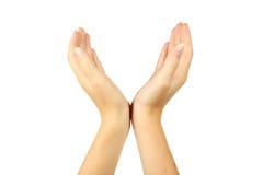 Gestos de mão fêmeas, fim acima Fotos de Stock Royalty Free
