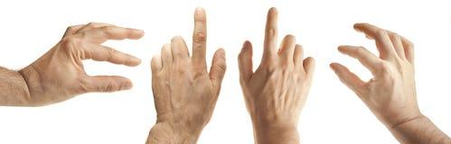 Gestos de mão masculinos Fotografia de Stock Royalty Free
