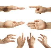 Gestos de mão masculinos Fotos de Stock Royalty Free