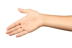 Gestos de mão masculinos, fim acima Foto de Stock