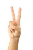 Gestos de mão masculinos, fim acima Imagem de Stock Royalty Free