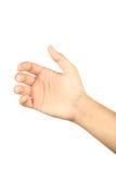 Gestos de mão masculinos, fim acima Imagens de Stock