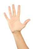 Gestos de mão masculinos, fim acima Fotos de Stock