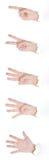 Gestos de mão no branco Fotografia de Stock Royalty Free