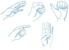 Gestos de mãos Fotografia de Stock