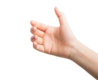 Gestos de mãos da mulher Foto de Stock