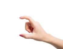 Gestos de mãos da mulher Fotografia de Stock