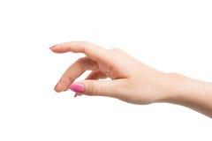 Gestos de mãos da mulher Imagens de Stock