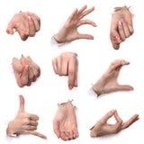 Gestos de manos Imagen de archivo libre de regalías