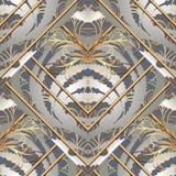 Gestreept barok naadloos patroon royalty-vrije illustratie