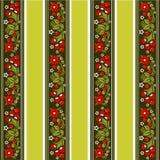 Gestreept bloemenpatroon Royalty-vrije Stock Foto