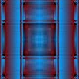 Gestreept grunge 3d vector naadloos patroon Geweven plaid blauwe achtergrond Het geruite Schots wollen stof herhaalt grungy achte royalty-vrije illustratie