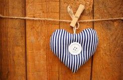 Gestreept hart Stock Foto