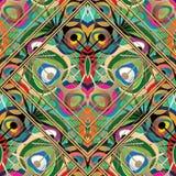 Gestreept kleurrijk abstract naadloos patroon vector illustratie