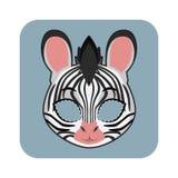 Gestreept masker voor festiviteiten vector illustratie
