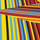 Gestreept Pop Abstract Streeppatroon Royalty-vrije Stock Foto