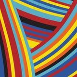 Gestreept Pop Abstract Streeppatroon Royalty-vrije Stock Fotografie
