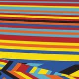 Gestreept Pop Abstract Streeppatroon Stock Afbeelding