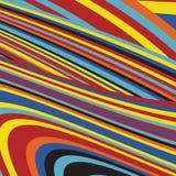 Gestreept Pop Abstract Streeppatroon Stock Fotografie