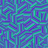 Gestreept psychedelisch naadloos patroon royalty-vrije illustratie