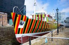 Gestreept schip Royalty-vrije Stock Fotografie