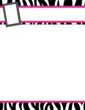 Gestreept streep zwart en roze kader Royalty-vrije Stock Foto's
