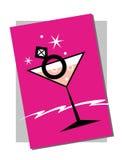 Gestreept streep zwart en roze kader Royalty-vrije Stock Fotografie