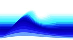 Gestreepte achtergrond met blauwe golf Vectorbehang royalty-vrije illustratie