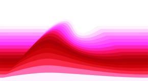 Gestreepte achtergrond met rode en roze golf Vectorbehang vector illustratie