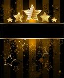 Gestreepte achtergrond met sterren stock illustratie