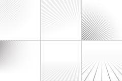 Gestreepte achtergronden met perspectief vector illustratie