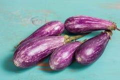 Gestreepte aubergine Royalty-vrije Stock Afbeelding