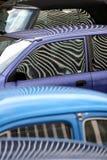 Gestreepte auto's royalty-vrije stock afbeeldingen