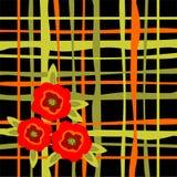 Gestreepte bloemenachtergrond Stock Afbeelding