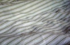 Gestreepte doek grijze algemene, witte en grijze strepen, comfortabele deken Royalty-vrije Stock Foto