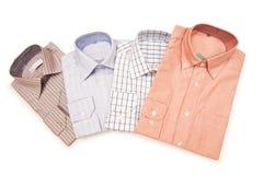 Gestreepte geïsoleerdee overhemden Royalty-vrije Stock Foto's