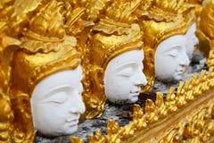 Gestreepte gipspleisterstijl Thai Stock Fotografie