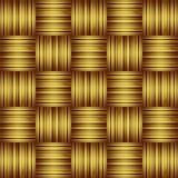 Gestreepte Gouden Achtergrond Royalty-vrije Stock Foto's