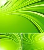 Gestreepte groene achtergronden Royalty-vrije Stock Afbeeldingen