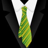 Gestreepte groene band royalty-vrije illustratie