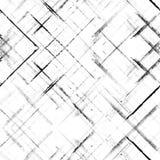 Gestreepte grungezwarte op wit naadloos patroon Stock Afbeeldingen