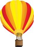 Gestreepte hete luchtballon Stock Illustratie